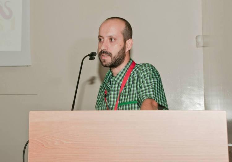 Llorente durante una conferencia en el IV Congreso Ibérico de Primatología