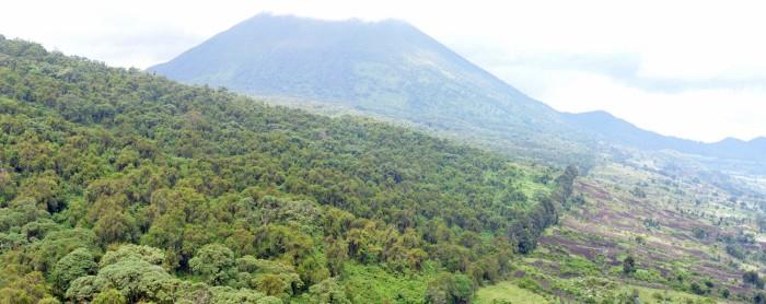 01 límite VNP y volcan Bisoke al fondo