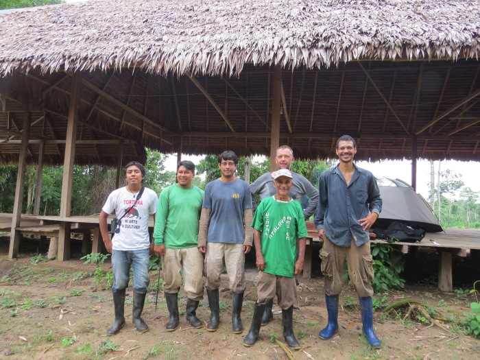 expedition team with local guides